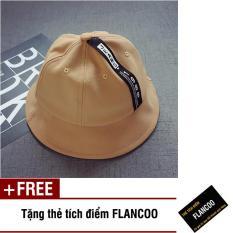 Nón vành vải jean thời trang bé gái Flancoo 1705 (Nâu nhạt) + Tặng kèm thẻ tích điểm Flancoo