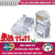 Hộp 100 đầu hạt mạng RJ45 nhựa(Trắng)