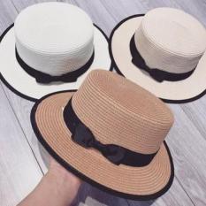Mũ cói, nón cói bo viền đi biển cực xinh