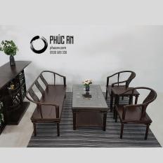 Nội Thất Gỗ Phòng Khách Phúc An – Bộ Bàn Ghế Sofa Gỗ Chiêu Liêu mẫu Cát Khánh