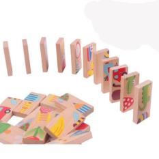 Đồ chơi gỗ xếp hình Domino 28 chi tiết giúp bé sáng tạo