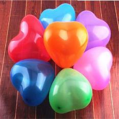 Bộ 100 Bong Bóng Bay Balloon Hình Trái Tim Nhiều Màu – Chirita