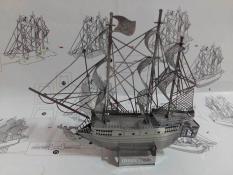 Mô hình kim loại lắp ghép lắp ráp trang trí trưng bày 3D Tàu Cướp Biển Caribe bằng thép không gỉ (Tặng Dụng Cụ lắp ghép khi mua 2 bộ bất kỳ)