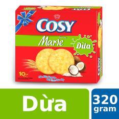 Bánh Quy Cosy Marie Dừa 320g (10 gói)