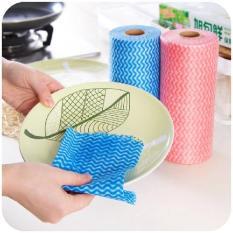 Cuộn 50 khăn lau đa năng Homeeasy loại to – Khăn giấy vải có thể giặt sạch để tái sử dụng, sạch vết bẩn nhanh chóng sti1434