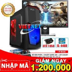 Máy tính game khủng intel i5 4460 H81 GTX 1050 RAM 16GB 500GB + LCD Del 24 inch (VietNet)