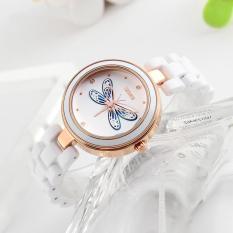 Đồng hồ thời trang nữ Skmei 9131 có hoạt tiết chuồn chuồn 3D nổi lên phía trên đồng hồ cực xinh(Cập nhật 2019)