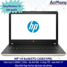 Laptop HP 14-bs563tu 2GE31PA + Tặng Windows 10 bản quyền