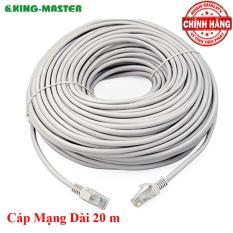 Dây cáp mạng LAN Internet bấm sẵn KingMaster dài 20m chuẩn cat 5e
