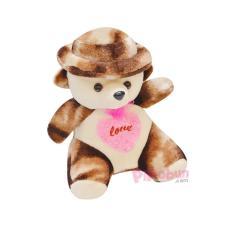 Gấu bông Teddy Đội Nón Pipobun size 45cm (M) – Pipobun