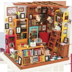 Đồ chơi lắp ráp gỗ 3D Mô hình Nhà DIY Doll House Sam's Study