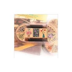 Hộp dấu gỗ in mực họa tiết (kèm mực) – CD36