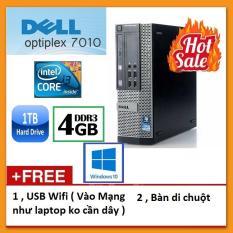 Thùng Dell optiplex 7010 ( Core i3 2100 / 4G / 500G ), Tặng USB Wifi , Bàn di chuột – Bảo hành 24 tháng