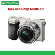 Máy ảnh Sony Alpha A6000L/BAP2 24.3MP với lens kit 16-50mm + Tặng Thẻ nhớ SD 16GB + Túi Sony- Techspotvn