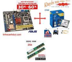 Combo main giga G31 Cpu E7500 Ram 2G Nguyên zin có Quạt và Chắn main