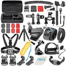 Bộ phụ kiện GOPRO, SJCAM 50 in 1 + có HỘP ĐỰNG cao cấp + FREE 1 phao nổi gắn camera, hàng thể thao chuyên dụng cao cấp – DONGGIA