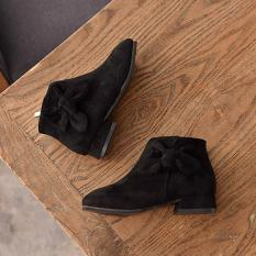 giày bốt da lộn cao gót cho bé