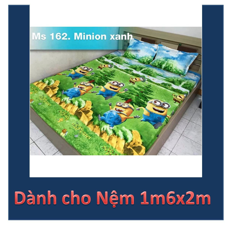 Bộ ga gối bọc Minions Rừng xanh