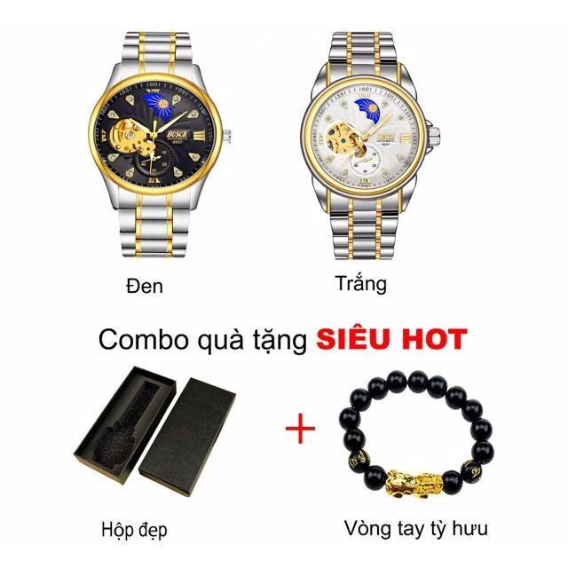 (Thời trang cá tính) đồng hồ nam bosck nK 20146+tặng kèm vòng tay tỳ hưu