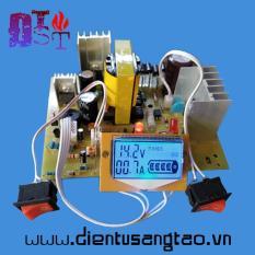 Mạch sạc acquy tự động nhận bình 12,24v 200Ah hiển thị LCD có bảo vệ