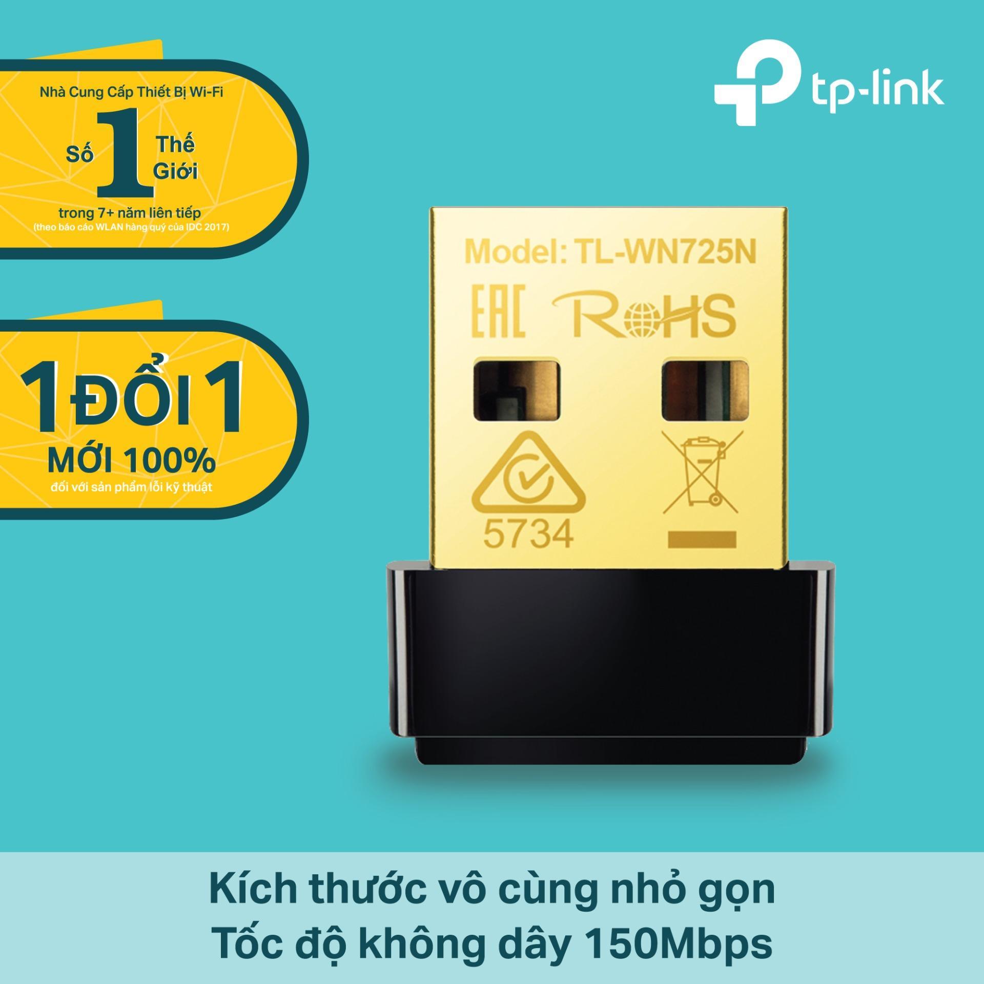 Nên mua TP-Link – TL-WN725N – USB kết nối Wi-Fi Chuẩn N 150Mbps Siêu nhỏ gọn-Hãng phân phối chính thức ở TP-Link