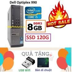 Thùng Đồng Bộ Dell Optiplex 990 (Core i5 2400 / 8G / SSD 120G ), Tặng USB Wifi , Bàn di chuột , Bảo hành 02 năm – Hàng Nhập Khẩu