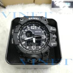 Đồng hồ nam giá rẻ- Đồng hồ nam thể thao skmei 1155B – siêu chống nước MÀU ĐEN