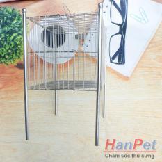 Lồng tắm chim khuyên – lồng chuột hamster 100% inox không gỉ sét (Hanpet longtam) chuồng chim / lồng nuôi chuột hamster / chuồng hamster