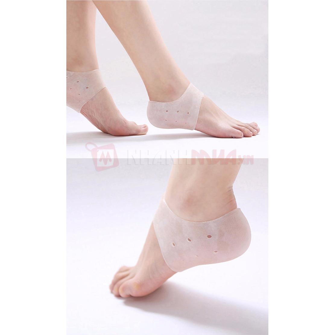 Combo 2 đôi Lót gót chân Silicon bảo vệ gót và mắt cá