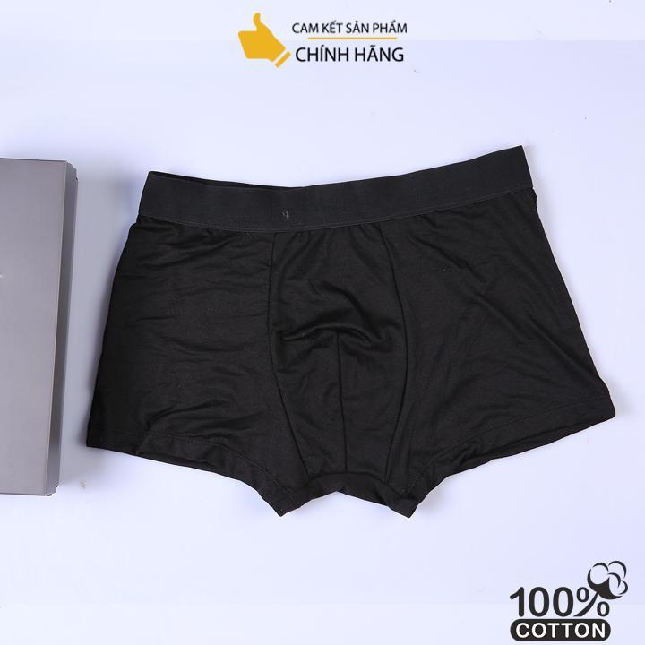 Quần lót boxer nam kiểu dáng basic màu đen ( có 3 màu)
