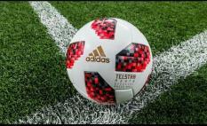 Quả bóng đá World Cup 2018 TELSTAR màu đỏ