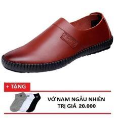 Giày đi bộ da nam Sport Occo + Tặng kèm vớ nam ngẫu nhiên