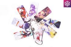 Xâu móc khóa, đeo điện thoại hình thẻ anime, 8 chiếc 1 xâu, nhựa mỏng, nhẹ [AAM] [PGN18]