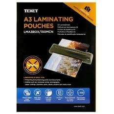 Hộp 100 tờ màng ép nhựa A3 Texet 250 Micron LMA3BOX125