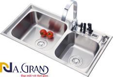 Chậu Rửa Chén Bát INOX SUS 304 N24 8143 NA.GRAND và Bộ Xả Chậu thoát nước