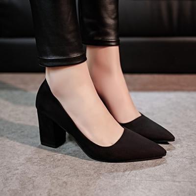 Giày MYS Búp bê nhung cao gót 7p