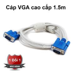 Dây cáp 2 đầu VGA chống nhiễu 1.5m (Trắng) – Dây cáp VGA 2 đầu đực chống nhiễu – Dây VGA chống nhiều 2 đầu đực