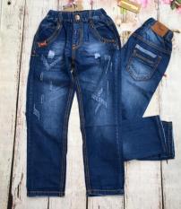 Quần jeans dài bé trai size đại wash rách từ 30kg đến 42kg – QT251
