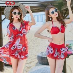Áo tắm Bikini áo bơi 3 CHI TIẾT 031822, váy bơi vải mỏng phong cách HÀN thời trang – DONGDONG