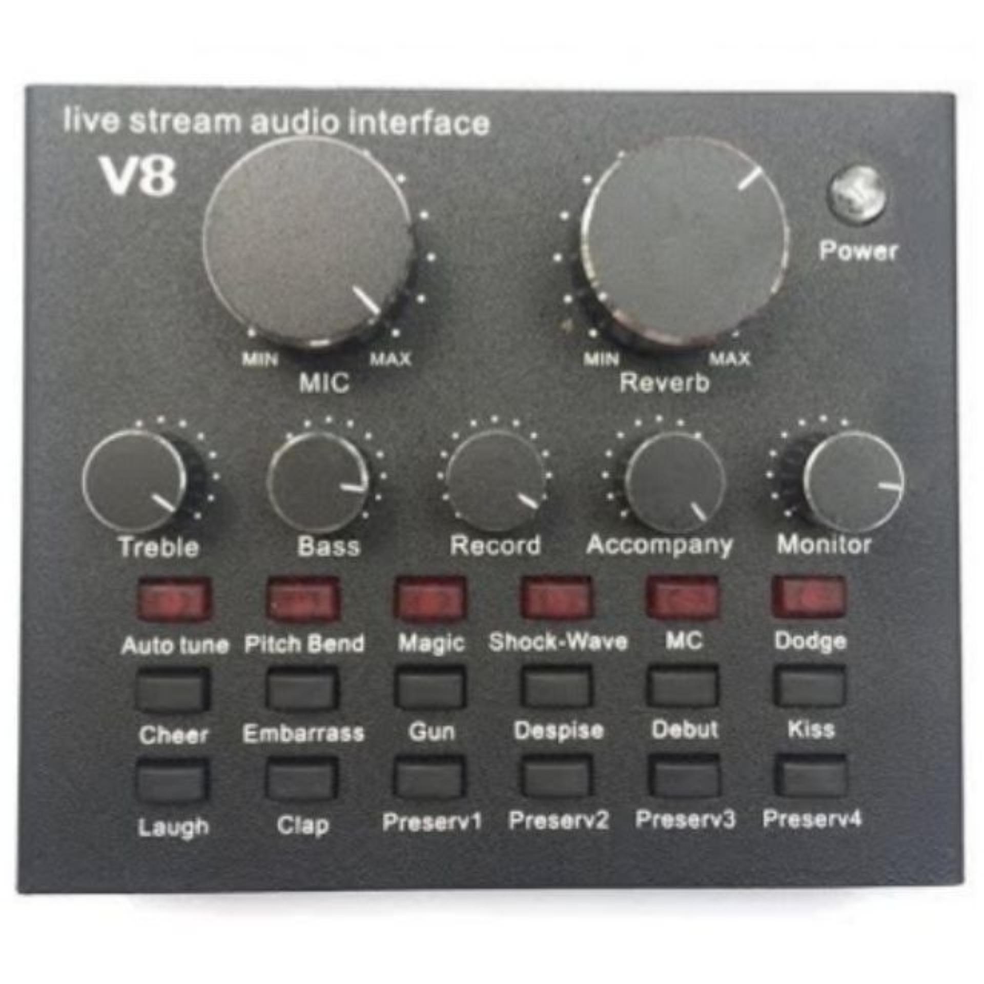 card thu âm livestream V8 có autotune có pin ở trong