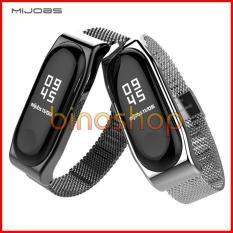 Dây đeo kim loại Miband 3 Mijobs – Dây đeo thay thế cho miband 3