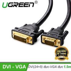 Cáp chuyển DVI-I (24+5) đầu đực sang cổng VGA đực dài 1.5m UGREEN DV102 11617 – Hãng phân phối chính thức
