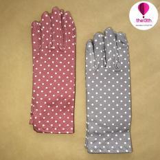[MIỄN PHÍ VẬN CHUYỂN HCM] Bộ 2 đôi găng tay nữ chấm bi chống nắng the13th – GF507