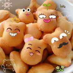 Túi Zip Cao cấp 1Kg Bánh Gấu Nhân Kem THIÊN HỒNG Giòn Tan Thơm Ngon