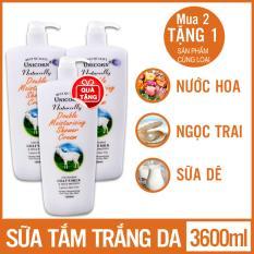 2 Sữa tắm UnicornNaturally gấp đôi dưỡng ẩm & tinh chất sữa dê 1200ml TẶNG 1 sản phẩm cùng loại[ DELLI – KH ST MY 21 ]