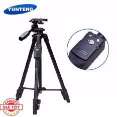 Chân chụp ảnh Tripod YunTeng chuyên nghiệp kèm Remote dành cho điện thoại máy ảnh