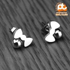 Bông tai nữ inox cao cấp phong cách không đen HCM 49