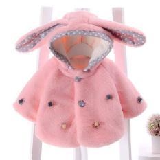 Áo khoác lông tai thỏ dài cho bé từ 5-20kg (kèm ảnh thật)