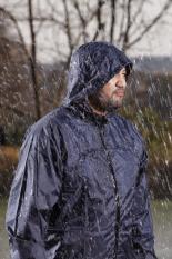 Áo bộ đi mưa Vải Dù siêu bền Nameka – Áo quần nón tháo rời (Xanh đậm)