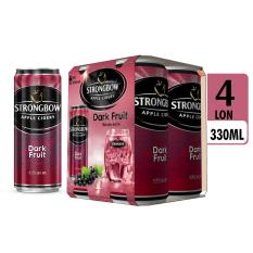 Lốc 4 lon Strongbow vị Dark Fruit